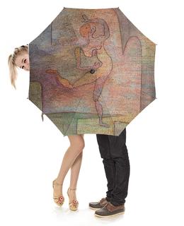 """Зонт-трость с деревянной ручкой """"Танцовщица (Пауль Клее)"""" - картина, живопись, клее"""