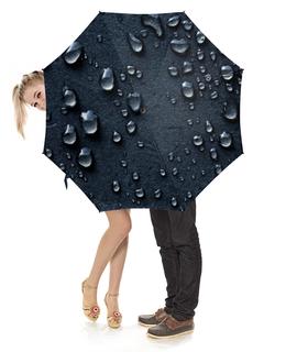 """Зонт-трость с деревянной ручкой """"Дождь"""" - дождь"""