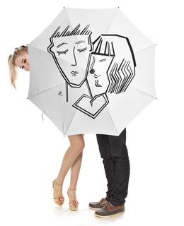 """Зонт-трость с деревянной ручкой """"Любовь"""" - деньвсехвлюбленных"""