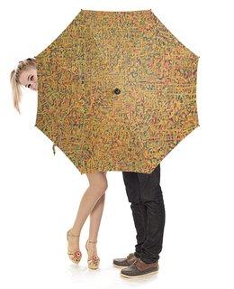 """Зонт-трость с деревянной ручкой """"Сандал"""" - арт, узор, абстракция, фигуры, текстура"""