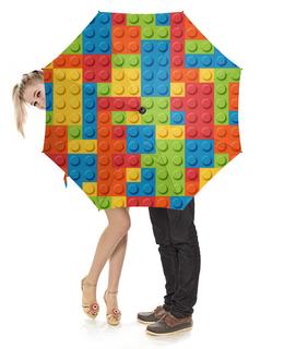 """Зонт-трость с деревянной ручкой """"Лего    """" - лего"""
