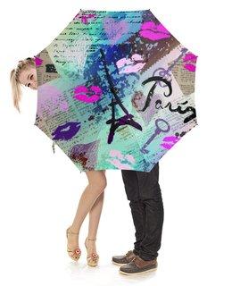 """Зонт-трость с деревянной ручкой """"Париж (1)"""" - мода, стиль"""