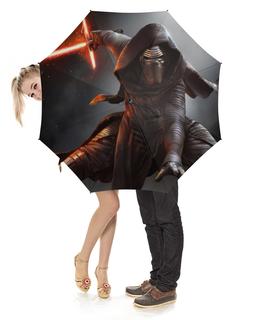 """Зонт-трость с деревянной ручкой """"Звездные войны"""" - star wars, звездные войны"""