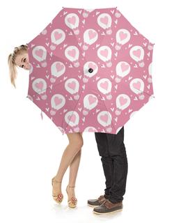 """Зонт-трость с деревянной ручкой """"День Св. Валентина"""" - день св валентина, валентинка, сердца"""