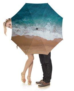 """Зонт-трость с деревянной ручкой """" Пляж          """" - лето, фото, море, пляж, отпуск"""