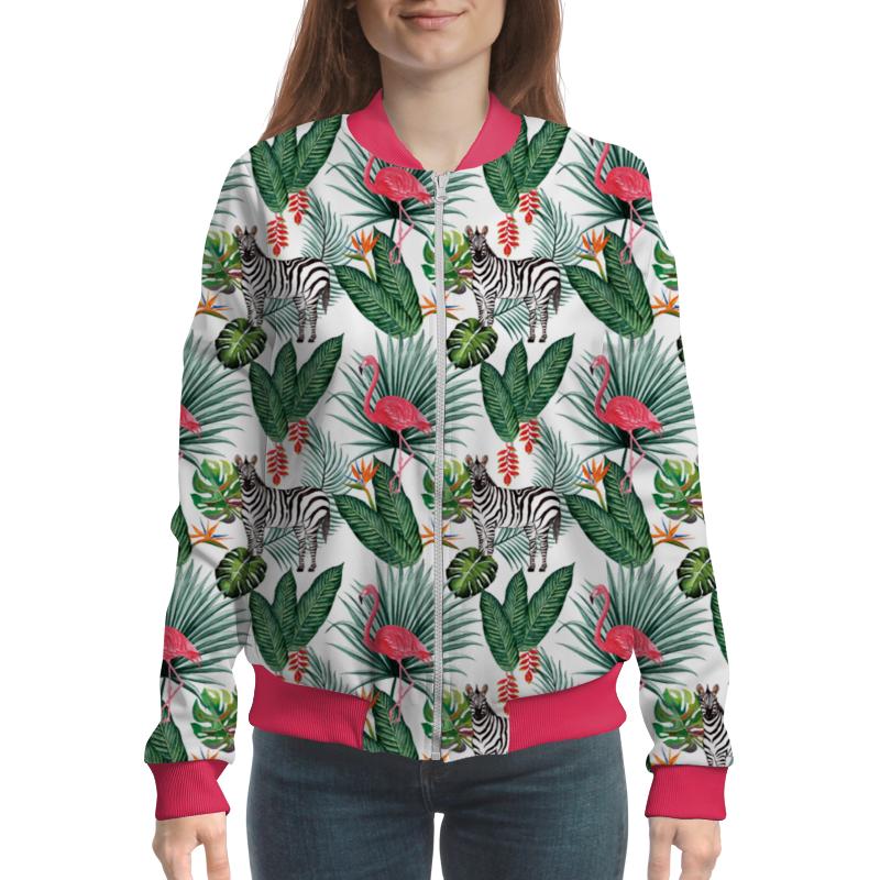Бомбер Printio Flamingo&zebra flamingo print wrap jumpsuit