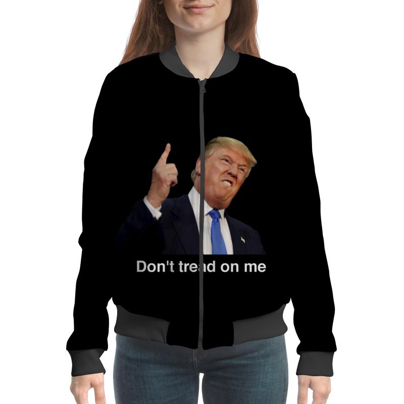 купить Бомбер Printio Don't tread on me трамп недорого