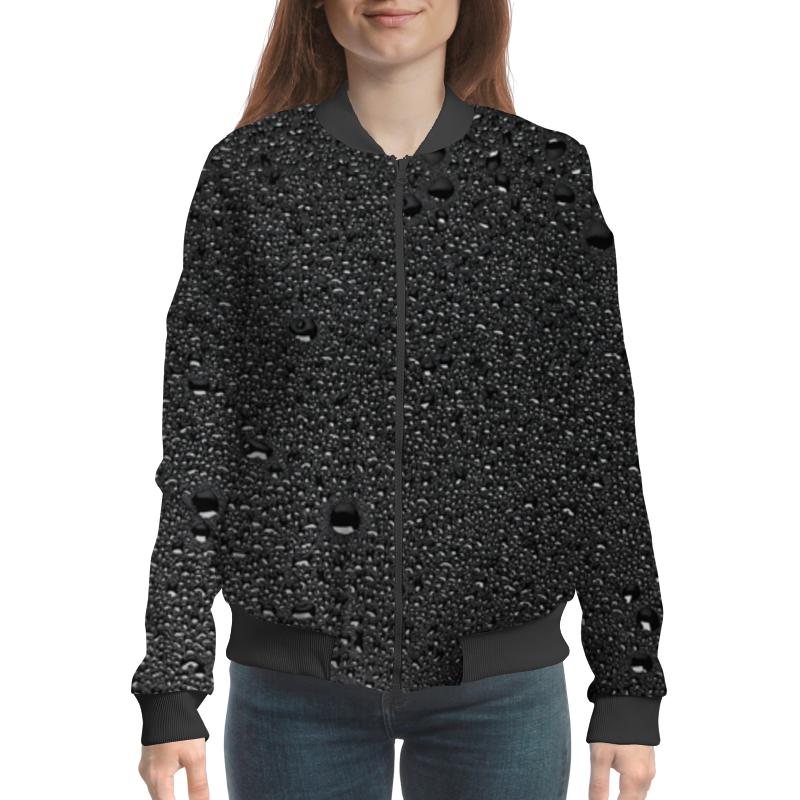 Бомбер Printio Женский черные капли женский гардероб