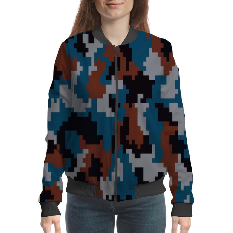 Бомбер Printio Пиксельный камуфляж нож складной boker b055 пиксельный камуфляж