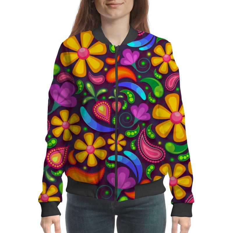 Бомбер Printio Цветочное настроение