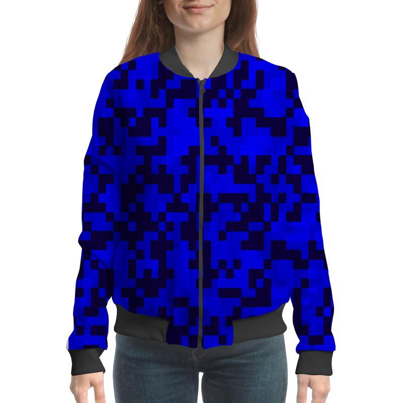 Printio Синие пиксели бомбер printio коричневые пиксели