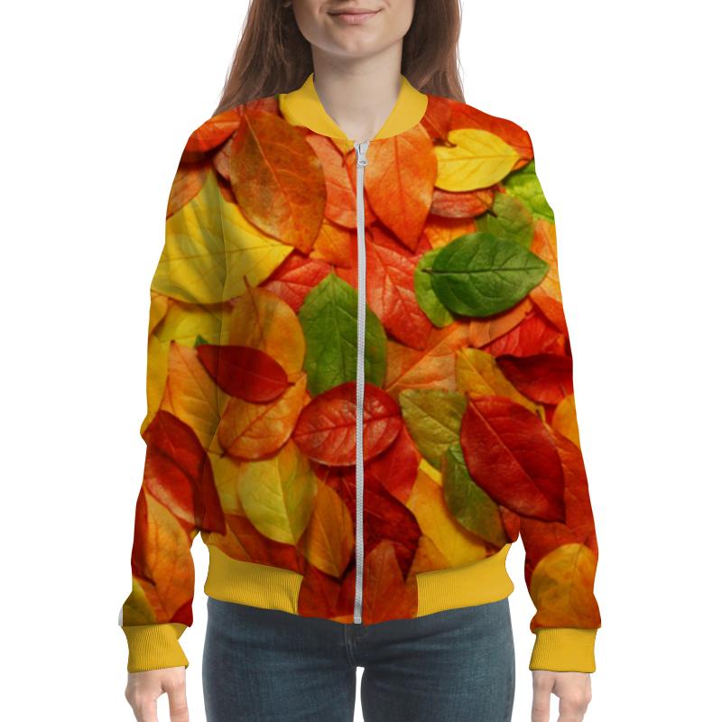 Бомбер Printio Осенняя листва