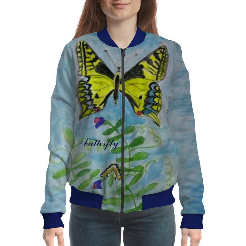 Бомбер Printio Бабочка-красавица спящая красавица