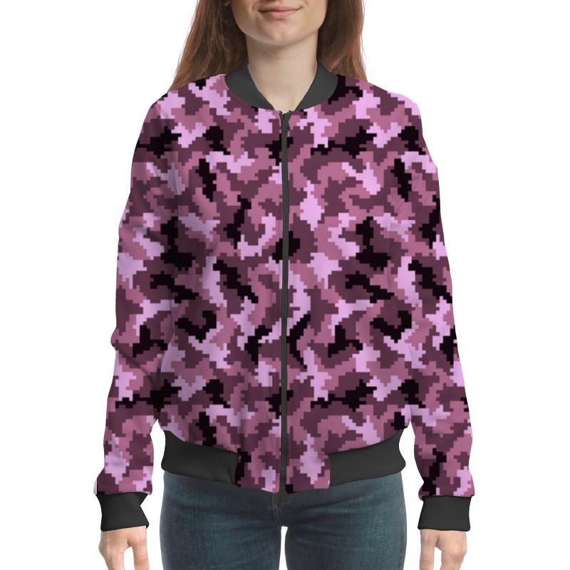 цена на Бомбер Printio Розовые пиксели