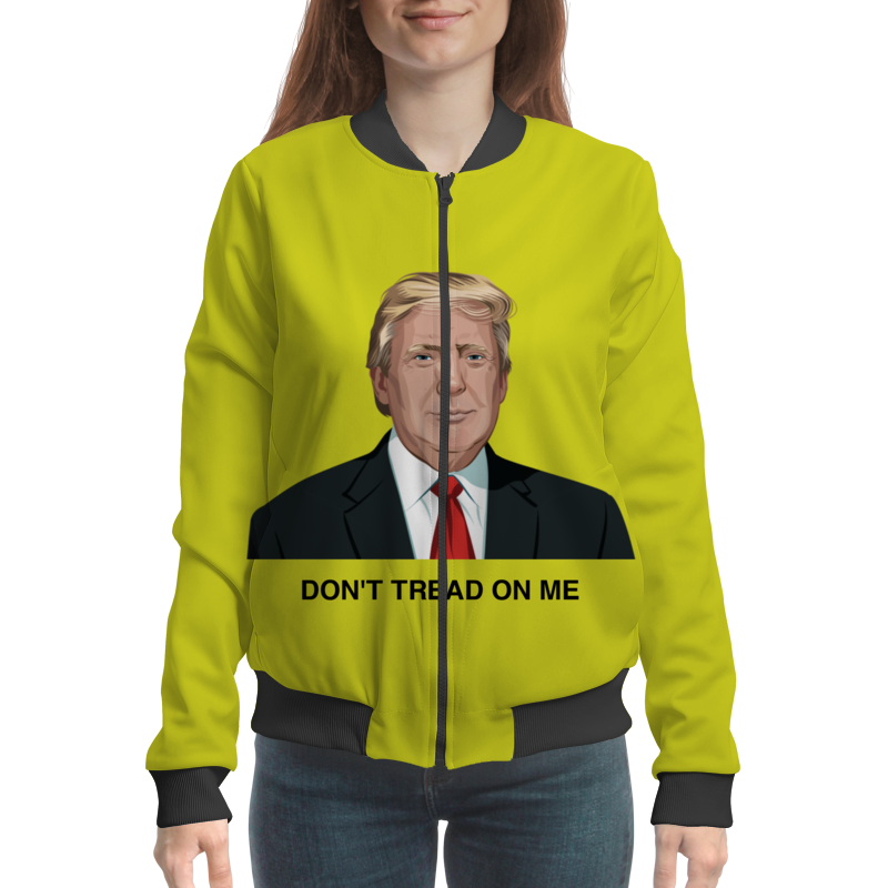 купить Бомбер Printio Trump. dont tread on me. дональд трамп недорого