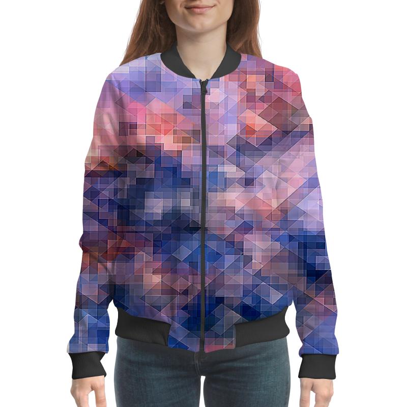 Бомбер Printio Пиксель-арт. сине-розовый паттерн борцовка с полной запечаткой printio пиксель арт сине розовый паттерн