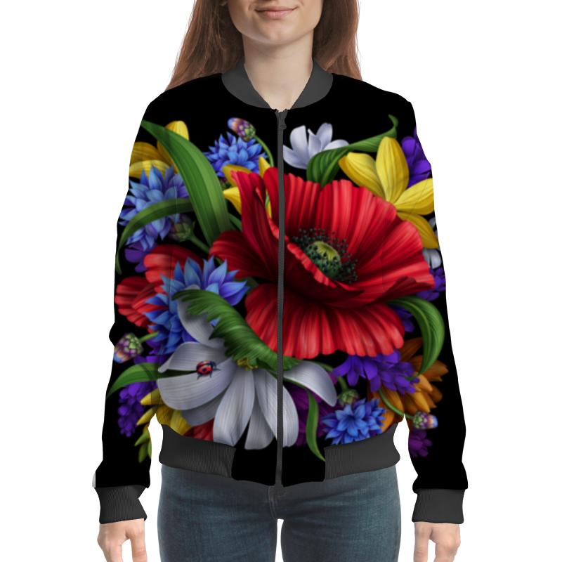 Бомбер Printio Композиция цветов композиция из цветов и конфет