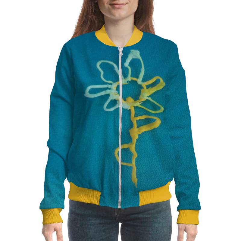 Бомбер Printio Цветик-семицветик платья soni kids платье цветик семицветик