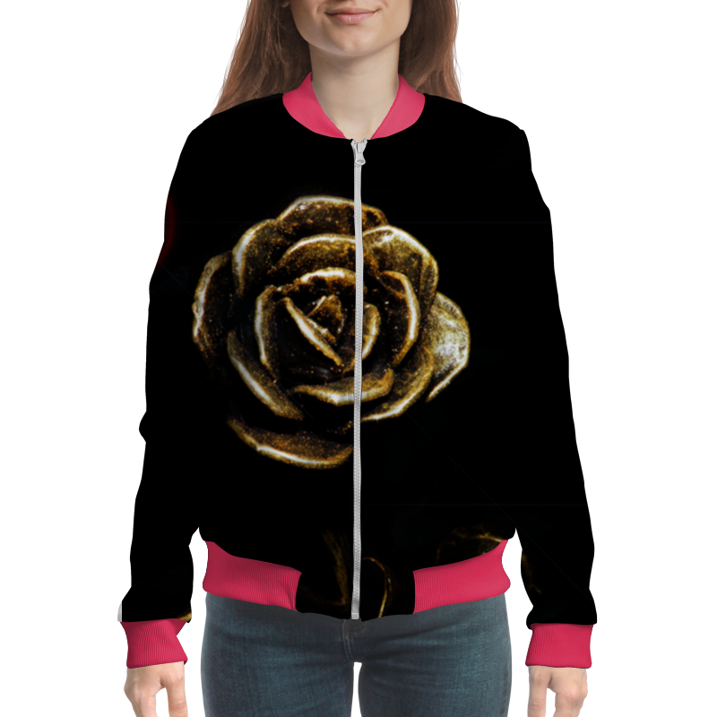 Бомбер Printio Роза - прекрасная пламенная роза тюдоров