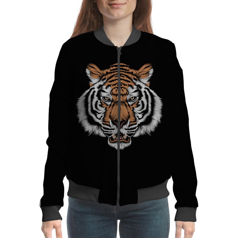 Бомбер Printio Взгляд тигра хоук к в поисках тигра