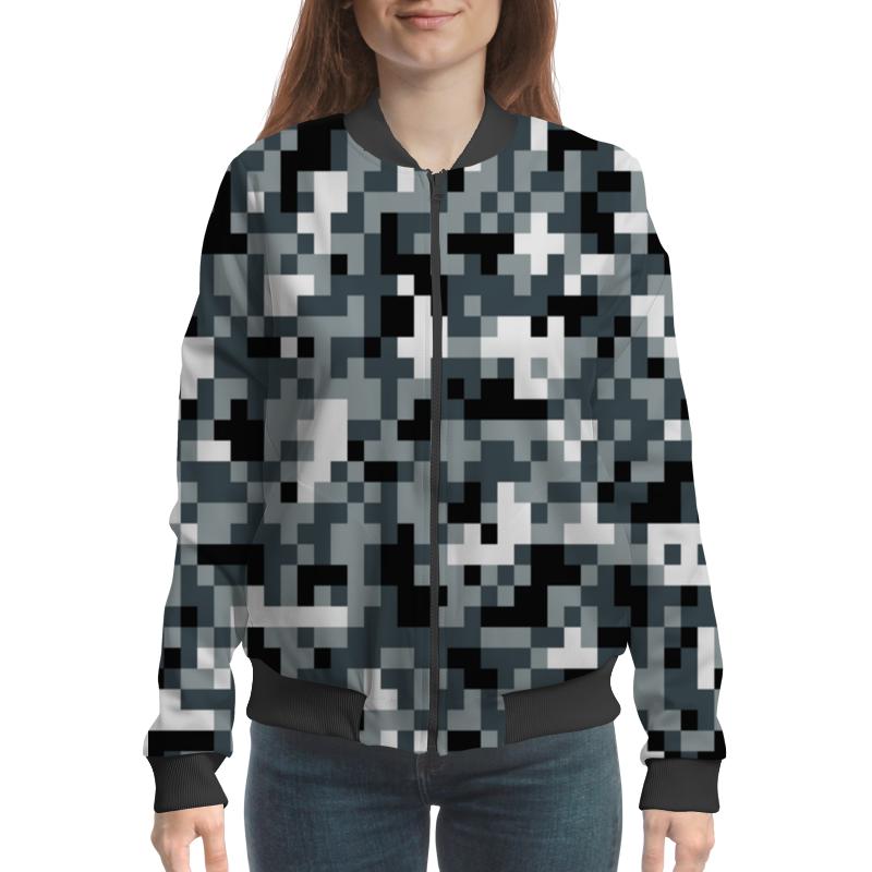Бомбер Printio Gray pixel бомбер printio pixel camouflage