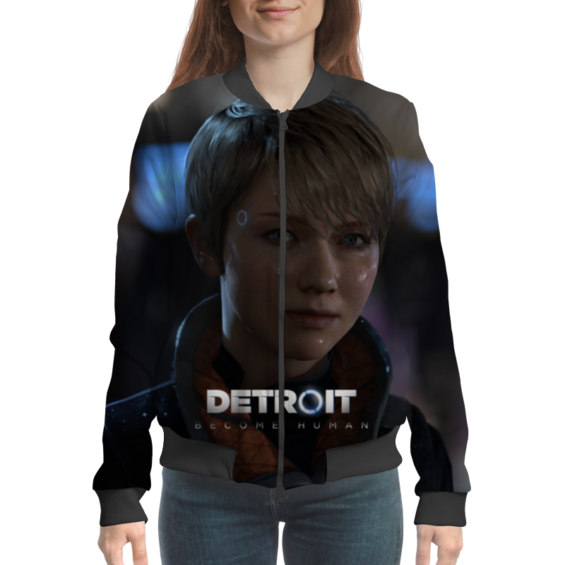 Бомбер Printio Detroit: become human pursuing human strengths