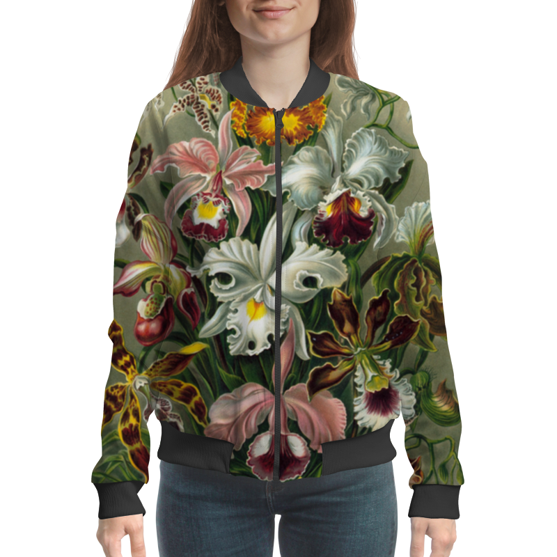 Бомбер Printio Орхидеи (orchideae, ernst haeckel) самые дешевые орхидеи в москве