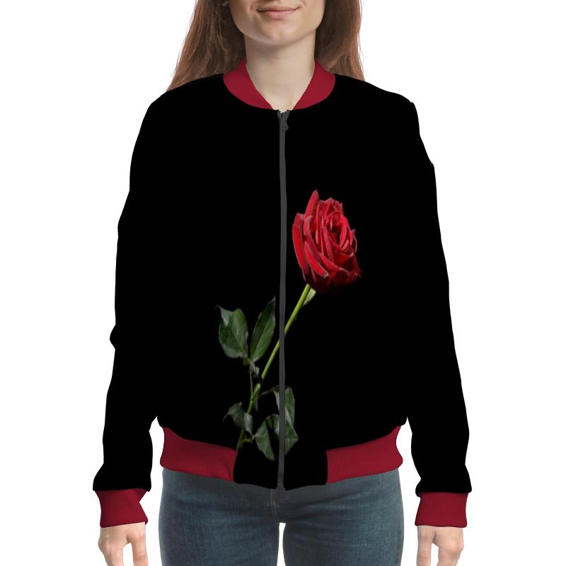 Бомбер Printio Роза подвеска роза мира для красной нити 37