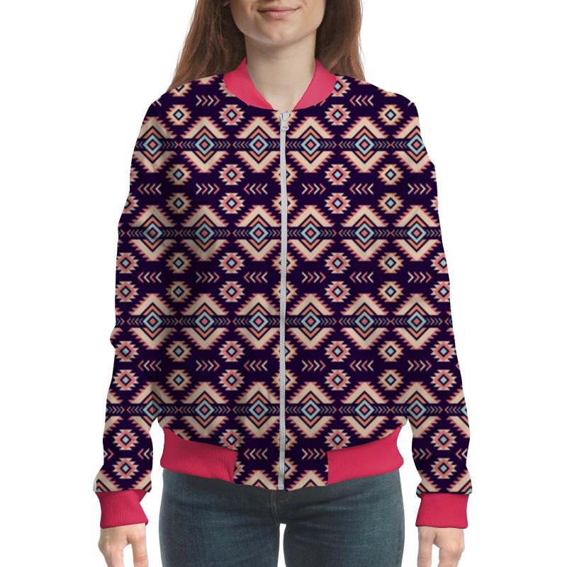 Бомбер Printio Этнический узор жен ожерелья с подвесками мода этнический перо кофейный красный синий 70cm ожерелье назначение праздники для улицы