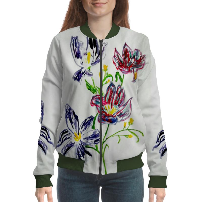 Бомбер Printio Лиловые цветы