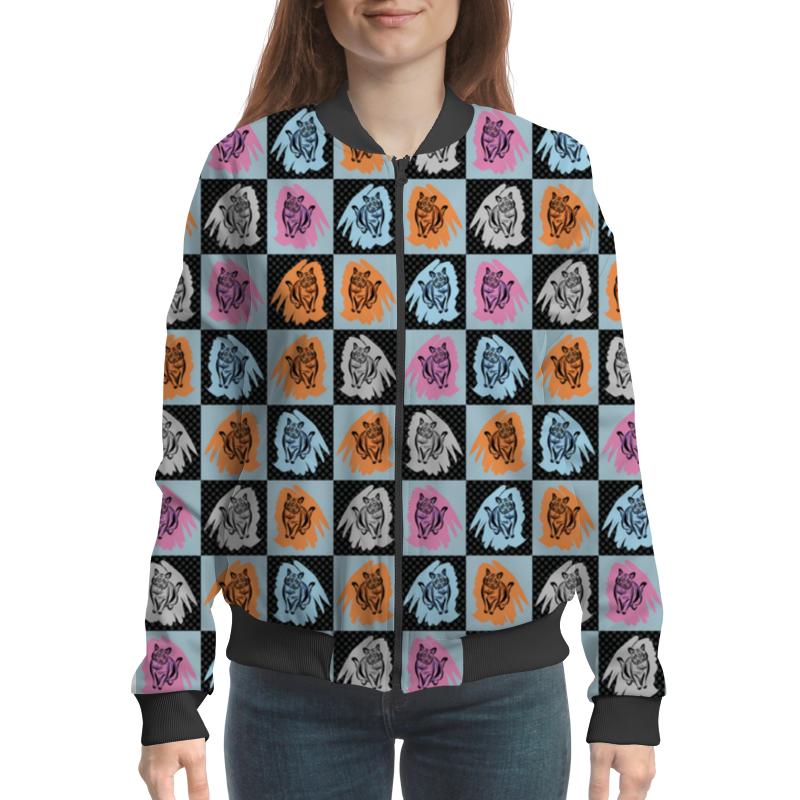 Фото - Бомбер Printio Коты в клеточку бомбер printio текстура ткани в цветную клеточку