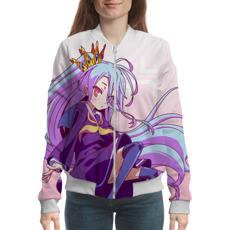 Бомбер Printio No game no life 20cm anime life no game no life shiro game of life painted second generation game of life 1 7 scale pvc action figure model