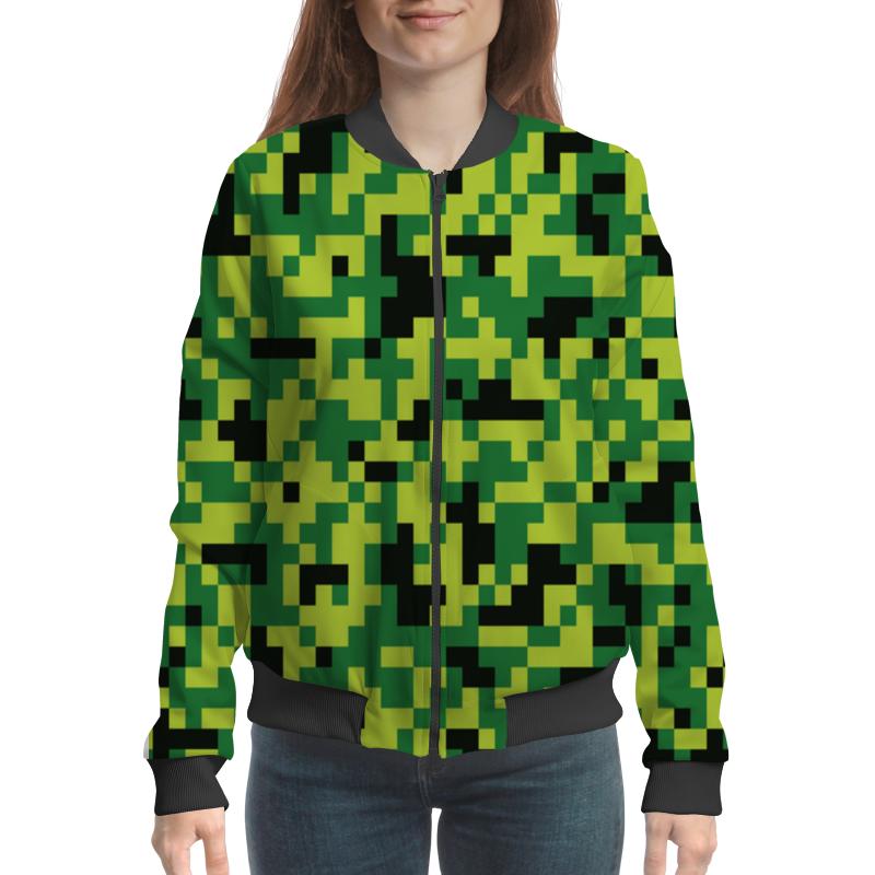Printio Зеленые пиксели мини батут складной кмс 54 диаметр 138 см зеленые