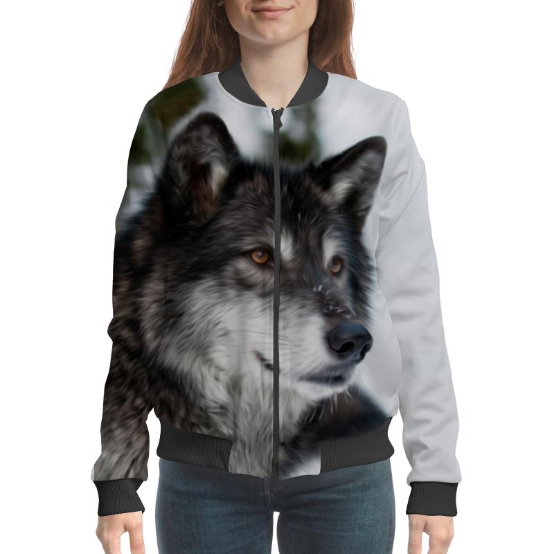 Бомбер Printio Серый волк