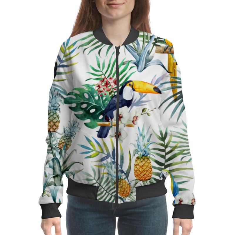 Бомбер Printio Экзотические цветы ароматизатор auto standart 3 d экзотические цветы
