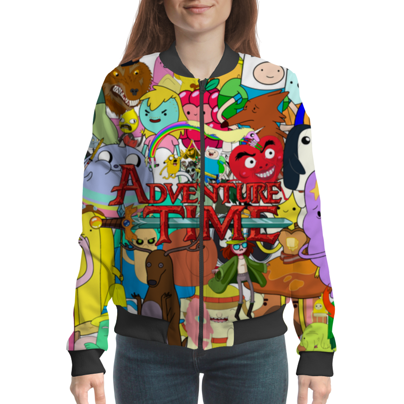 Бомбер Printio Adventure time фигурки adventure time jake