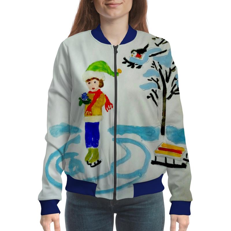 Бомбер Printio Зимние забавы детская футболка классическая унисекс printio зимние забавы