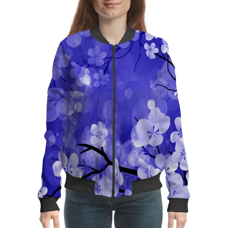 Бомбер Printio Весенние цветки цены онлайн