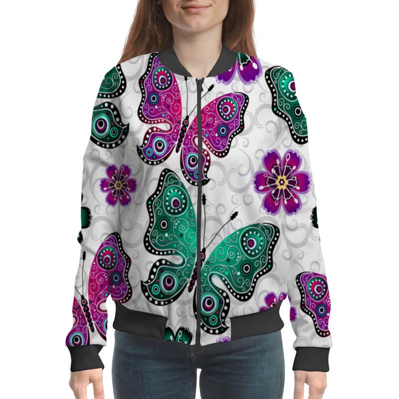 Бомбер Printio Цветные бабочки часы цветные бабочки mitya veselkov часы цветные бабочки