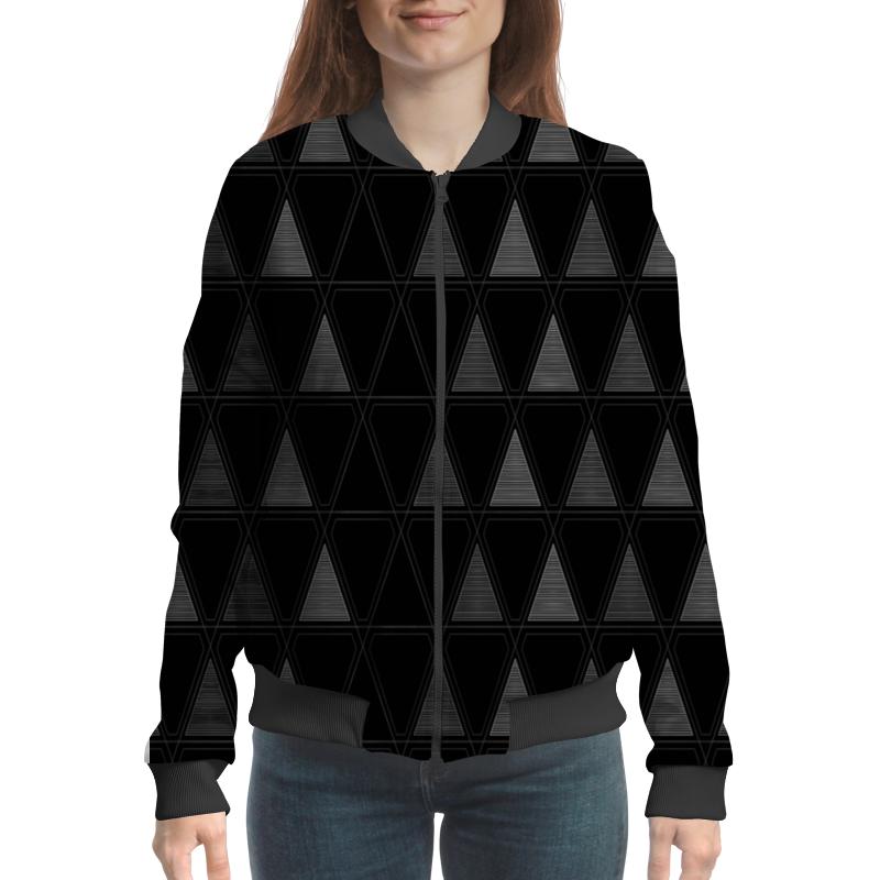 Бомбер Printio Треугольник черный треугольник
