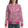 """Бомбер """"Цветы на розовом фоне"""" - цветы, роза, листья, пионы, розовые"""