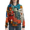 "Бомбер женский ""Баския. Снупи"" - робот, стрит арт, баския, снуппи"