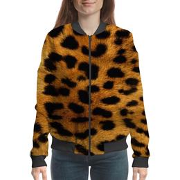 """Бомбер """"Мех леопарда"""" - леопард"""