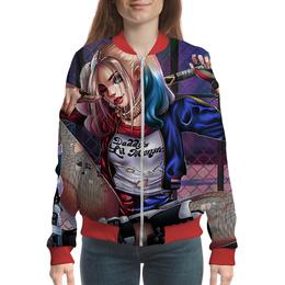 "Бомбер ""Harley Quinn Design"" - harley quinn, антигерой, dc комиксы, суперзлодейка, отряд самоубийц"