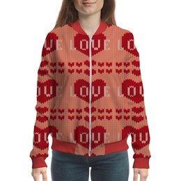 """Бомбер """"Любовь"""" - любовь, сердца, 8 марта, подарок, день св валентина"""