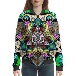 """Бомбер """"Mandala HD 4"""" - узор, ретро, классика, этно, симметрия"""