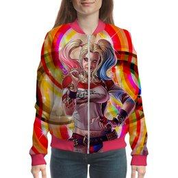 "Бомбер ""Harley Quinn Design"" - харли квинн, harley quinn, dc комиксы, суперзлодейка, отряд самоубийц"