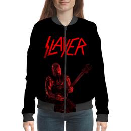"""Бомбер """"Slayer"""" - рок, slayer, хэви метал, хардрок, слейер"""