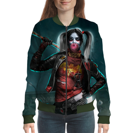 "Бомбер ""Harley Quinn"" - юмор, харли квинн, dc комиксы, суперзлодейка, отряд самоубийц"