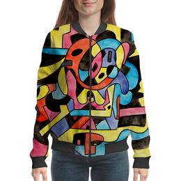 "Бомбер ""ttt`12ll"" - арт, узор, абстракция, фигуры, текстура"